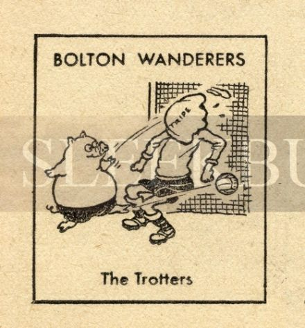 VINTAGE Football Print BOLTON WANDERERS - THE TROTTERS Funny Cartoon